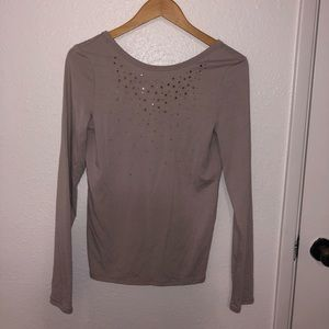 Crystal Embellished Long Sleeve